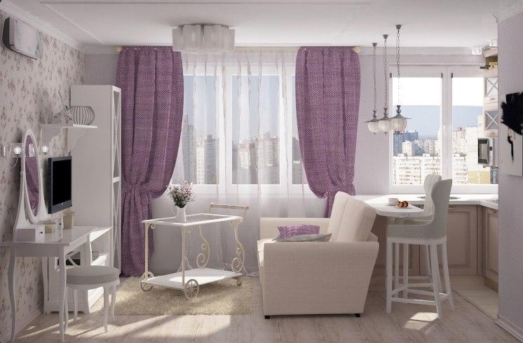 Проект квартиры-студии 22 м для девушки.