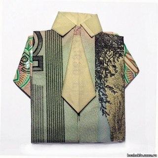 """За  """"Оригами рубашка с галстуком """" - Швейная промышленность."""