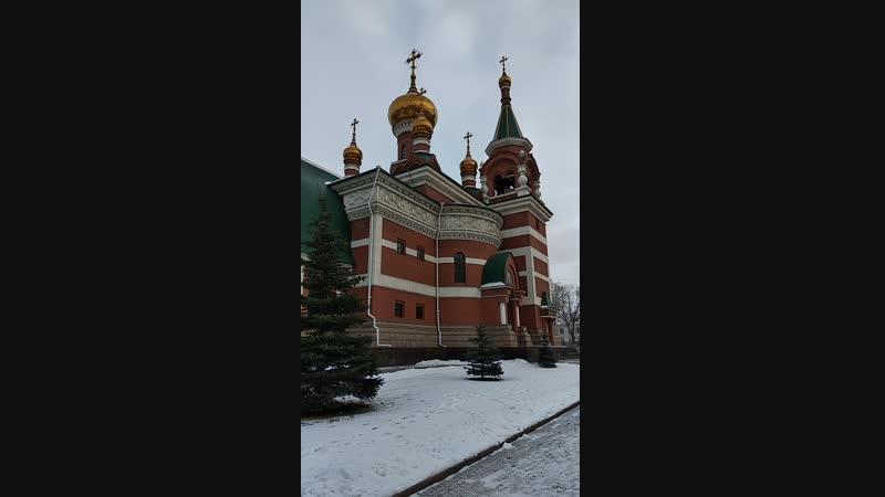Храм Георгия Победоносца в Челябинске. Праздничный трезвон. Звонарь Евгений Агеев