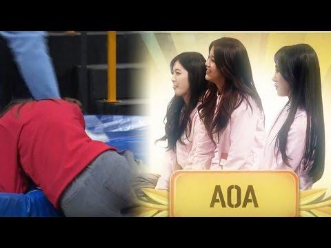 'AOA' 놀라운 뒷심 발휘하며 여자부 '닭싸움' 팀워크 대결 우승! @사장님이 보고있