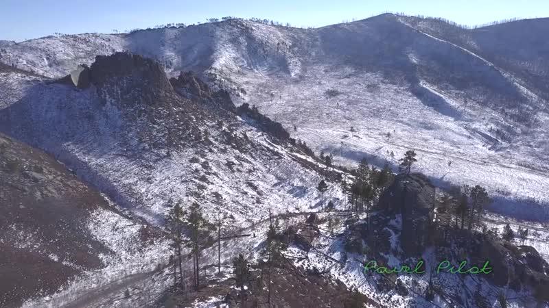 Гора Саханай с птичьего полета Забайкальский край