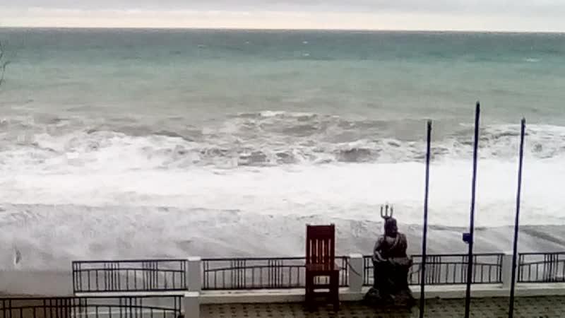 Посейдон,Гагра,шторм 16 января 2019г.