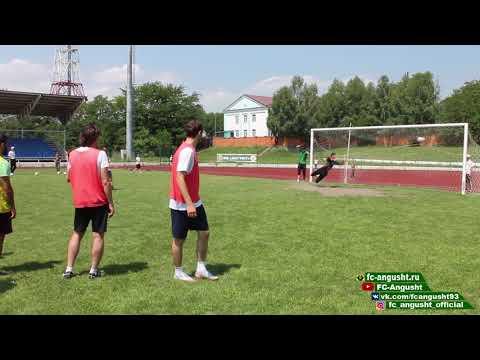 Предыгровая тренировка ФК Ангушт к матчу с ФК Динамо Ставрополь