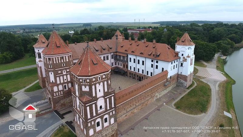Аэросъемка Мирского замка (Беларусь)/Mir Castle Complex (Belarus)