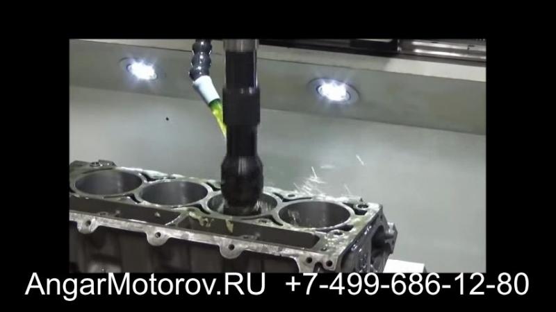 Ремонт Блока Цилиндров Двигателя Audi A4 2.0 TFSI Шлифовка Расточка Опрессовка Сварка Гильзовка