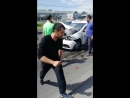В Курске после ДТП с KIA Optima загорелся Renault Logan