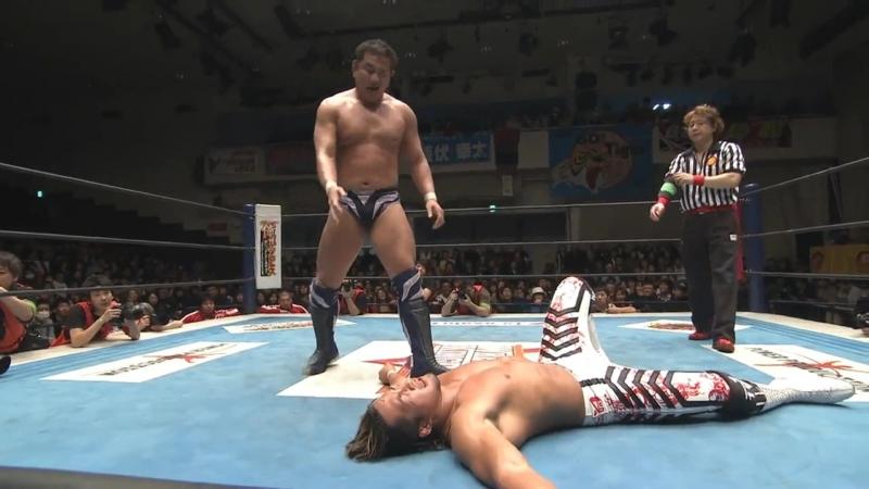 Hiroshi Tanahashi(с) vs. Yuji Nagata Match for the IWGP Heavyweight Title (New Dimension)