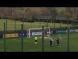 Cucchiaio su rigore di Elez in Lazio-Inter semifinale di andata Coppa Italia Primavera