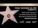 Lin-Manuel Miranda - Hollywood Walk of Fame Ceremony - Live Stream
