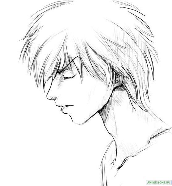 как нарисовать аниме девушку карандашом поэтапно.