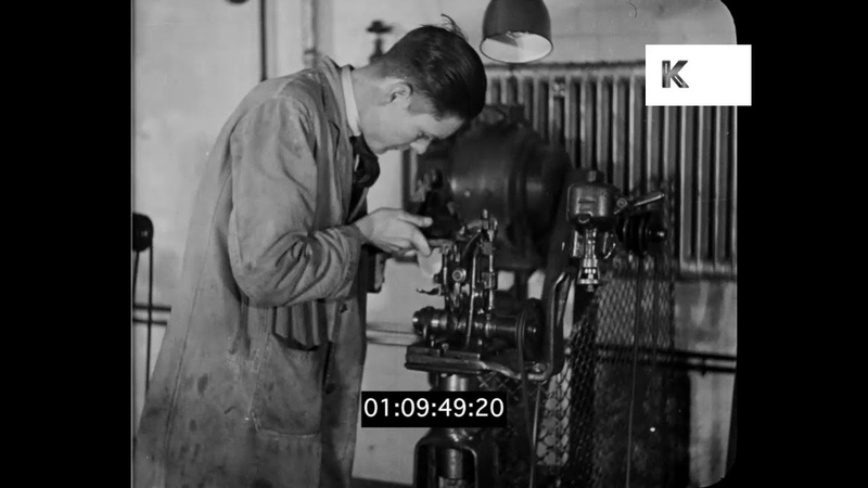 Manufacturing Shoes, 1930s UK Industry, Factory, HD