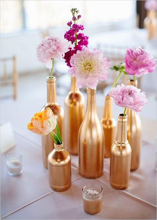 Декоративная ваза из бутылки своими руками