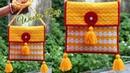 Woolen ladies side bag Or Purse Using Plastic Canvas | Best out Of waste Craft | Unique Idea