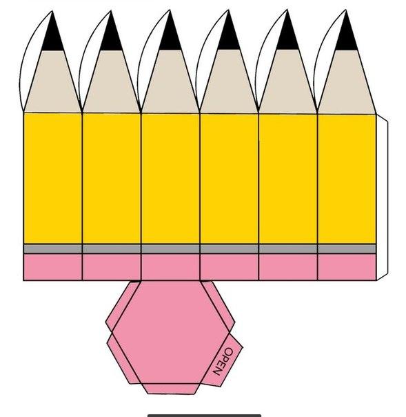 Карандаш из картона своими руками 9