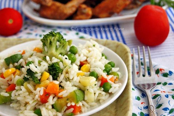 Рис с овощами замороженными фото