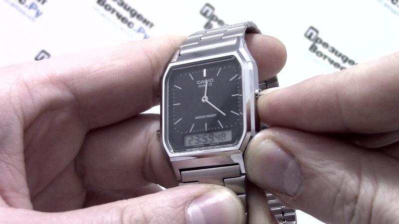 Часы Casio Illuminator AQ-230A-1D [AQ-230A-1DVEF] - видео обзор от PresidentWatches.Ru