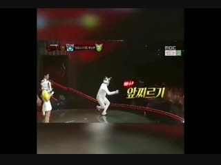 Of course jimin would bring up jungkooks funny fencing dance on masked singer lmaoo