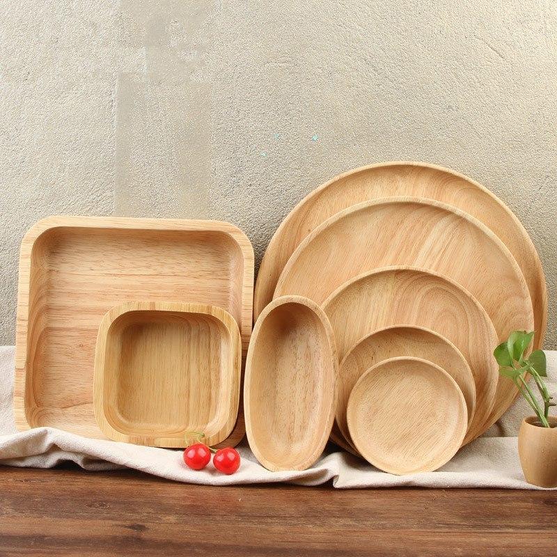 Деревянные тарелки -