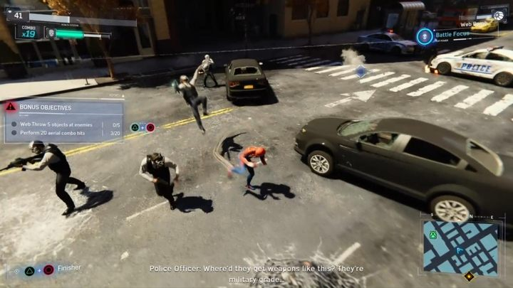 преступление в Marvel's Spider-Man