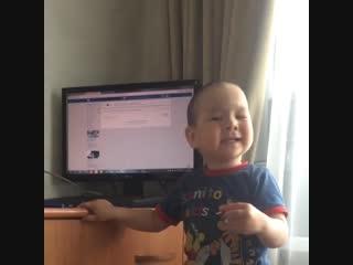 Малыш))) поёт песню Elvin Grey - #Уфтанма