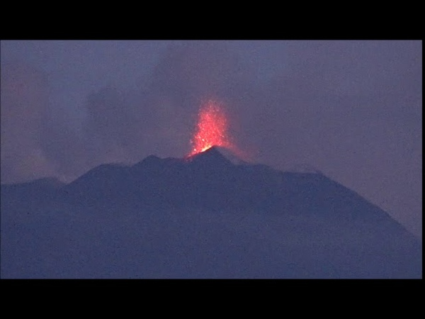 Etna, il video dell'attività eruttiva al Nuovo Cratere di Sud-Est, 23-24 agosto 2018