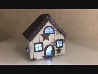 Сказочный домик из коробки от сока