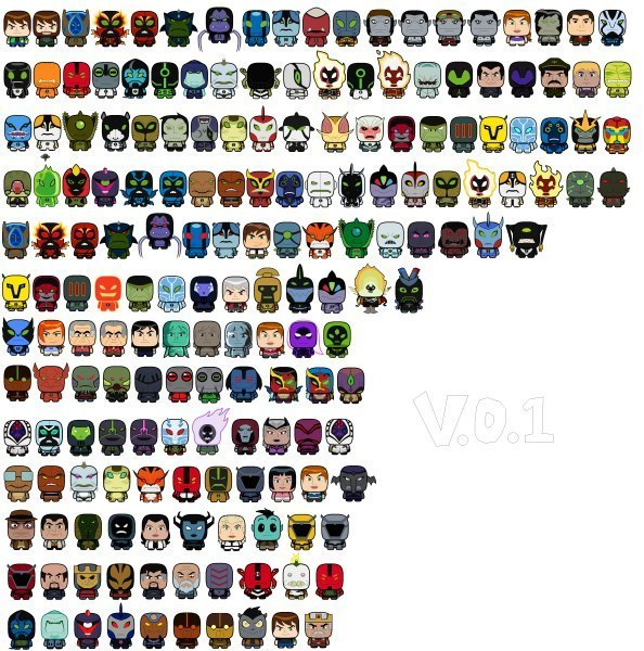 картинки бен 10 все герои омниверс