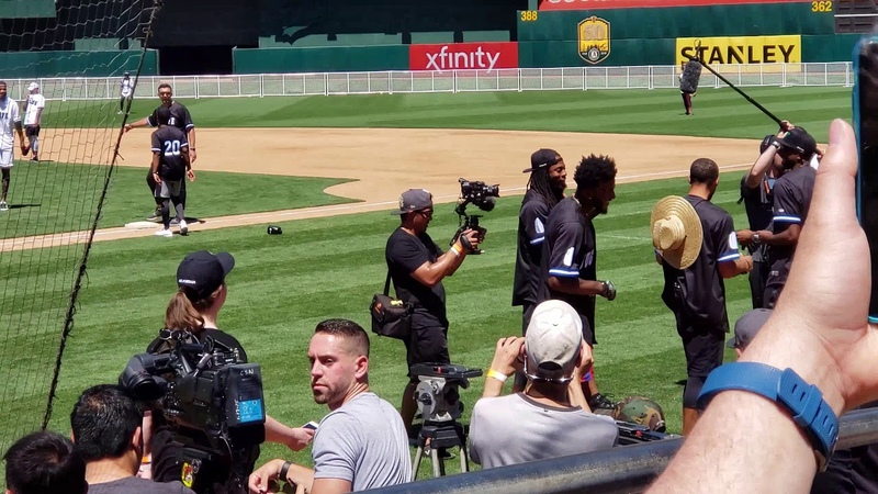 Stephen Curry @ Juglife Charity Softball Game in Oakland 6 23 18
