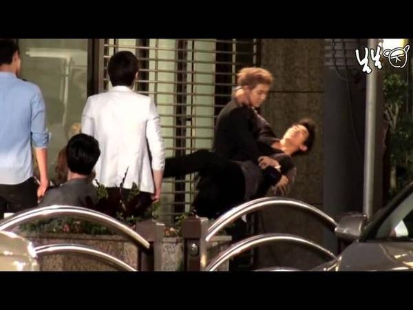 [Fancam] 110615 CF shooting Taecyeon Junho focus