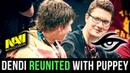 Dendi REUNITED with his Best Teammate Puppey! Best Moments of Dendi Puppey back at Na`Vi - Dota 2