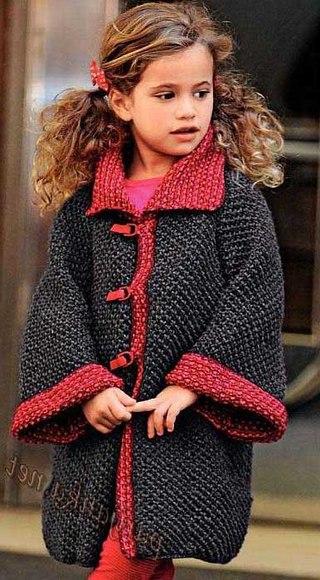 Пальто, куртки вязаные Вязание для детей спицами и крючком. - Part 4.
