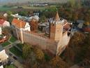 Zamek Królewski w Łęczycy z lotu ptaka