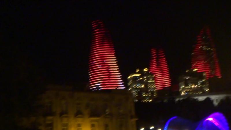 Баку - город огня и ветра!