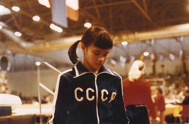 Гимнастка Наталья Шапошникова, заслуженный мастер спорта СССР.