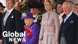 Dutch King and Queen formally welcomed by Queen Elizabeth on first state visit in 36 years