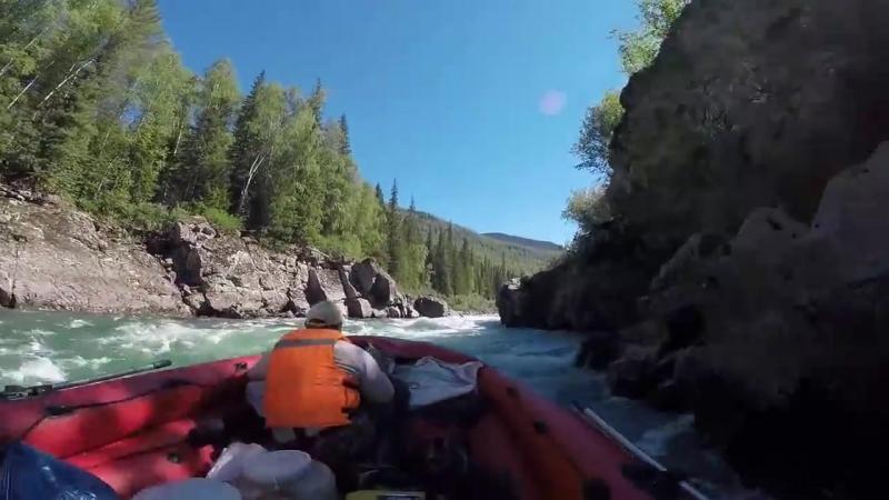 река Казыр порог Щеки вверх