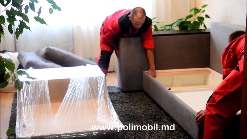 Монтаж углового дивана MILAN от POLIMOBIL