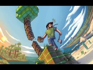 Игра на сервере Minecrack-часть 16-На краю мира