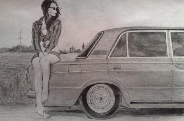 Ваз нарисованный карандашом фото