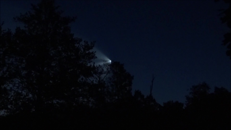 Пролет над Ивановской областью ракеты спутника Глонасс М запущенного с космодрома Плесецк 17 06 18 г