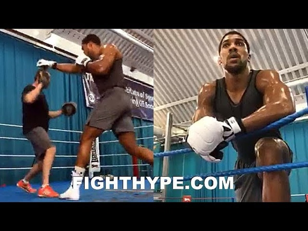 ANTHONY JOSHUA PERFECTING KO PUNCH FOR POVETKIN SMASHES MITTS WITH THUNDEROUS POWER