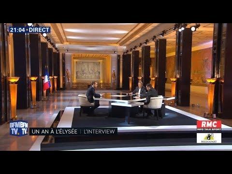 Interview du Président de la République Emmanuel Macron 15.04.2018