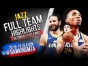 Utah Jazz Full Team Highlights 2018.10.11 vs Kings - 132 Points! FreeDawkins