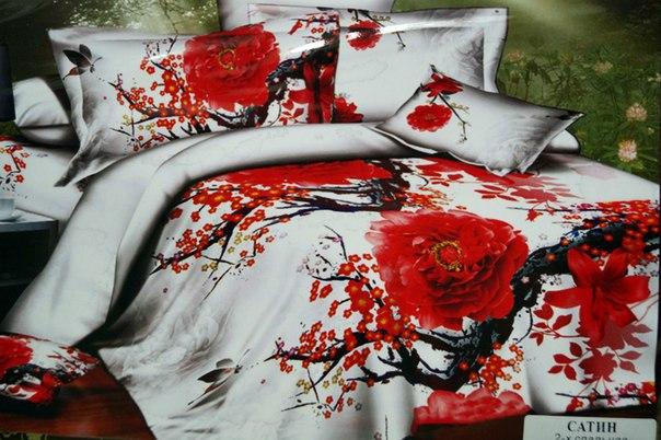 ткань сатин 3d для постельного белья купить