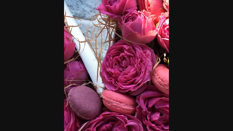 Коробка буква с цветами