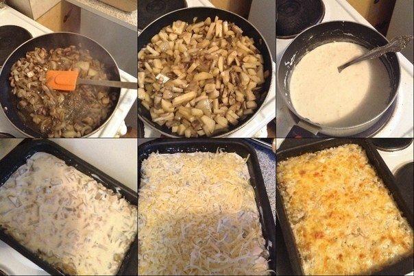Запеканка-жюльен  Ингредиенты:  Куриное филе — 400 г Средний картофель — 8...