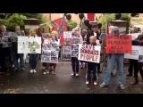 Today at 02.08.2014 in Dublin, Ireland, protest outside the embassy of Ukraine