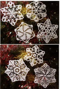 Снежинки крючком (7 фото) - картинка