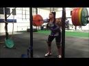 Kara Bohigian Smith 315x4 Back Squat Workout - 6 sets of 4 up to 315lb