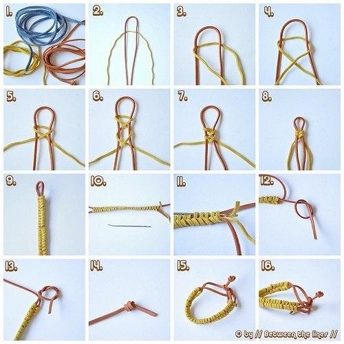 Как сделать браслет из резинок схема